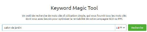 Keyword Magic Tool - SEMrush